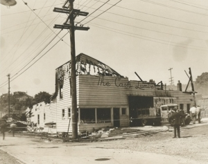 Damage to Dunn Lumber after the Fire of 1938