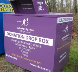 Big Brother Big Sister Donation Drop Box